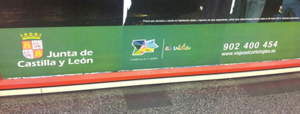 Información publicitaria del Metro de Madrid. FOTO 2